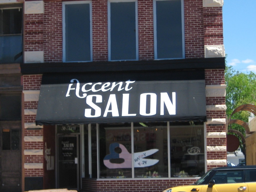 awnings accent salon sign central inc